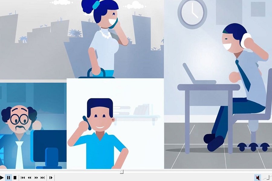 Fixed Telephony 2D Animation